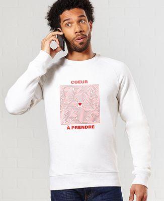 Sweatshirt homme Coeur à prendre Labyrinthe