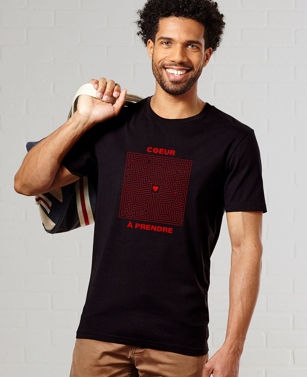 T-Shirt homme Coeur à prendre Labyrinthe