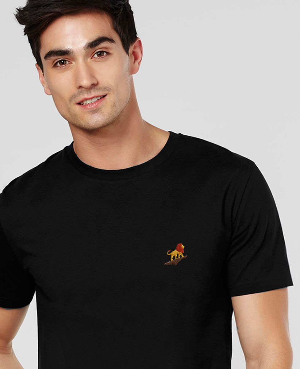 T-Shirt homme Lion rocher (brodé)