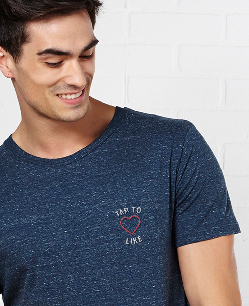 T-Shirt homme Tap to Like (brodé)