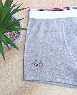 Boxer Vélo tricolore (brodé)