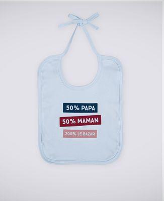 Bavoir 50% Maman 50% Papa 200% Le Bazar