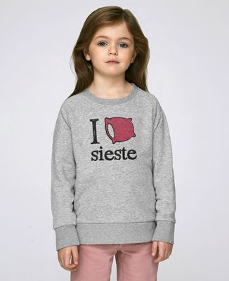 Sweatshirt enfant I love sieste