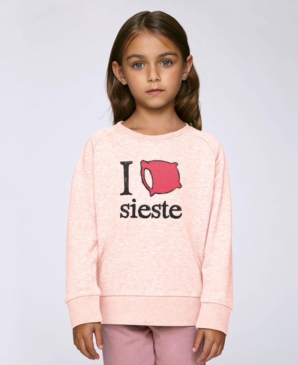 Sweatshirt enfant I love sieste