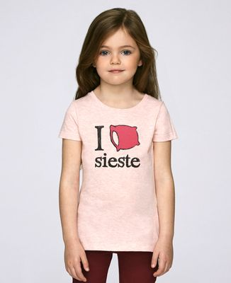 T-Shirt enfant I love sieste