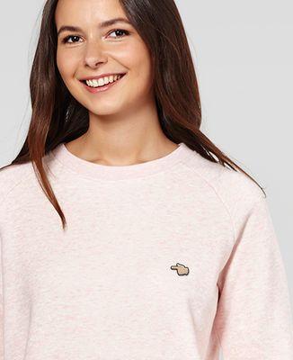 Sweatshirt femme Pointer du doigt (brodé)