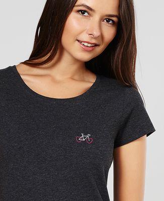 T-Shirt femme Vélo Coeur (brodé)