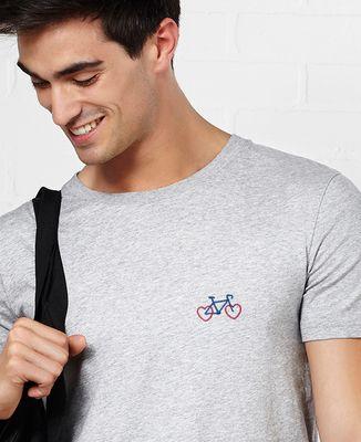 T-Shirt homme Vélo Coeur (brodé)