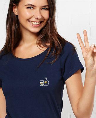 T-Shirt femme Ricou 51 (brodé)