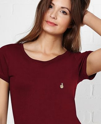 T-Shirt femme Croiser les doigts (brodé)