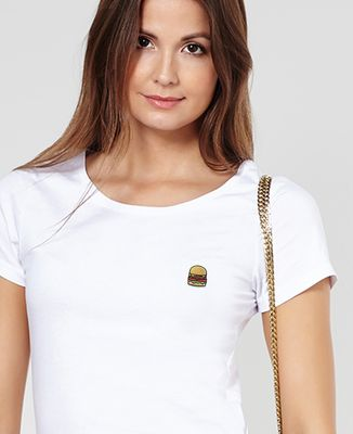 T-Shirt femme Burger (brodé)