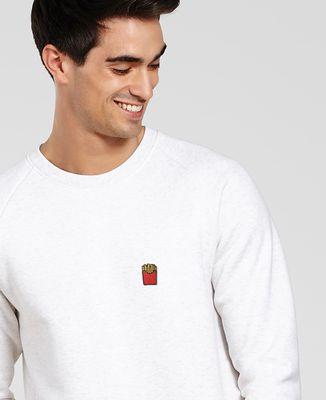 Sweatshirt homme Frites (brodé)