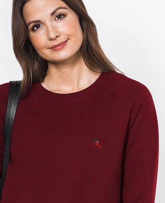 Sweatshirt femme Piment (brodé)