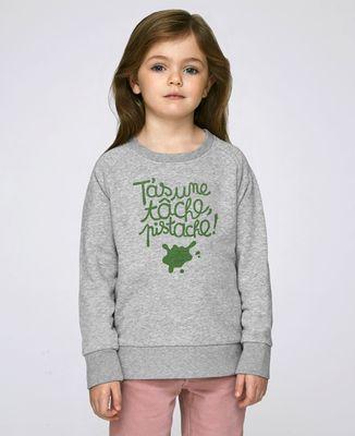 Sweatshirt enfant T'as une tâche, pistache