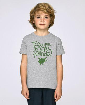 T-Shirt enfant T'as une tâche, pistache