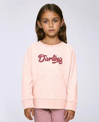 Sweatshirt enfant Darling (effet velours)