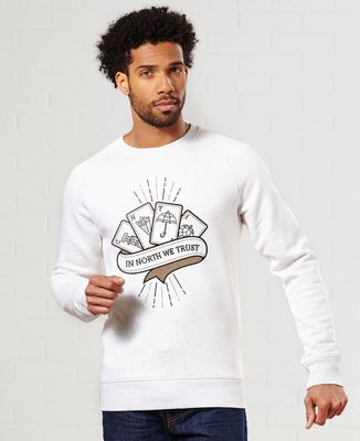 Sweatshirt homme In North We Trust - Monsieur Tshirt x LeGallodrome