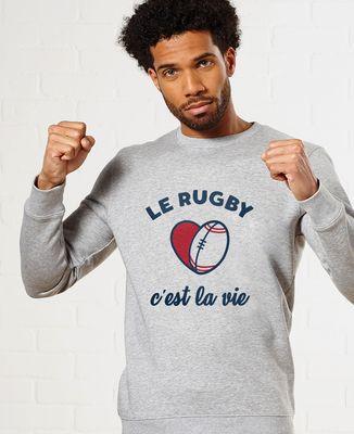 Sweatshirt homme Le rugby c'est la vie