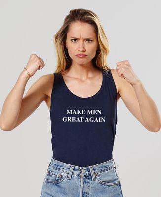 Débardeur femme Make men great again