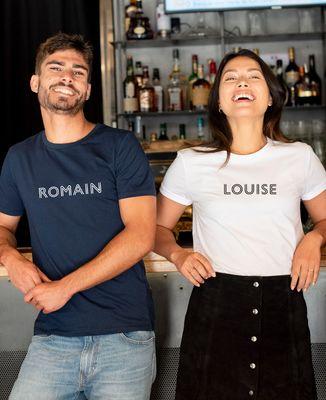 T-Shirt homme Prénom personnalisé