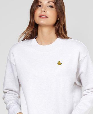 Sweatshirt femme Canard jaune (brodé)