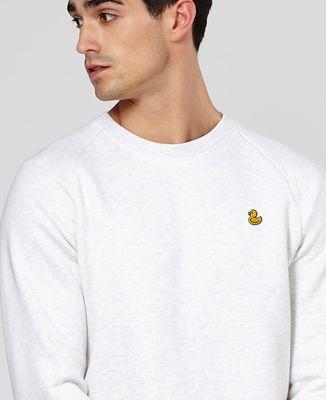 Sweatshirt homme Canard jaune (brodé)