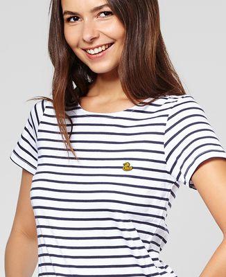 T-Shirt femme Canard jaune (brodé)