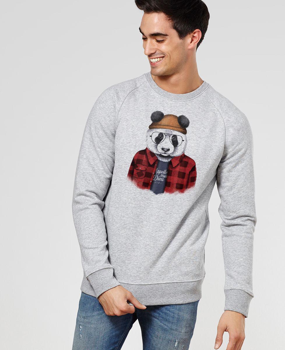 Sweatshirt homme Panda hipster