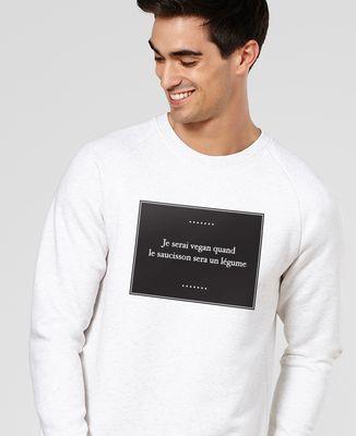 Sweatshirt homme Je serai vegan quand...