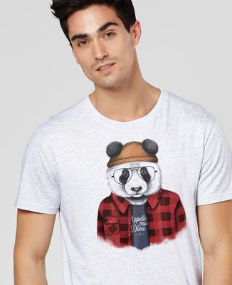 T-Shirt homme Panda hipster