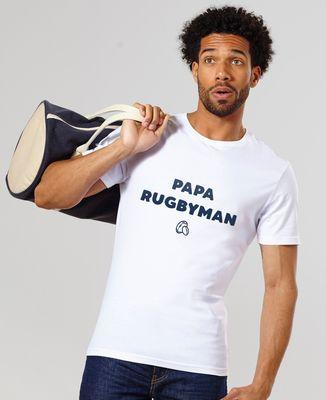 T-Shirt homme Papa rugbyman