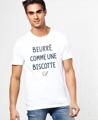 T-Shirt homme Beurré comme une biscotte
