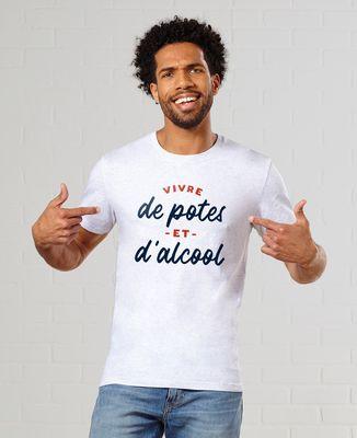 T-Shirt homme Vivre de potes et d'alcool
