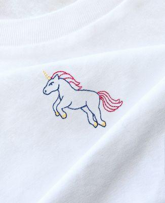 T-Shirt femme Licorne (brodé)