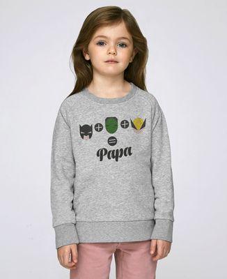 Sweatshirt enfant L'homme chauve-souris, l'homme vert et Logan