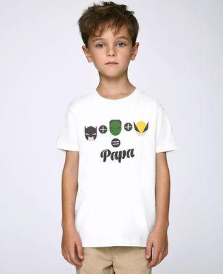 T-Shirt enfant L'homme chauve-souris, l'homme vert et Logan