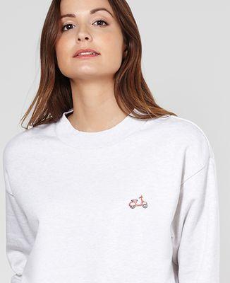 Sweatshirt femme Vespa (brodé)