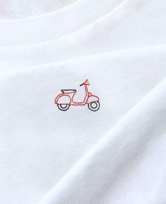 T-Shirt homme Scooter vintage (brodé)