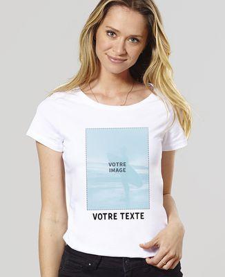T-Shirt femme Photo et Texte personnalisé
