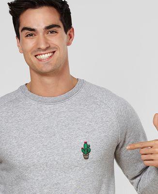 Sweatshirt homme Cactus pot (brodé)