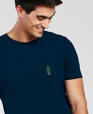 T-Shirt homme Cactus pot (brodé)