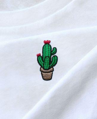 T-Shirt femme Cactus pot (brodé)