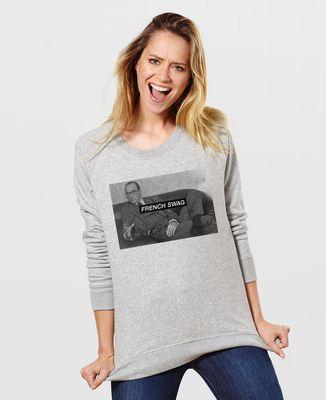 Sweatshirt femme French Swag Chirac