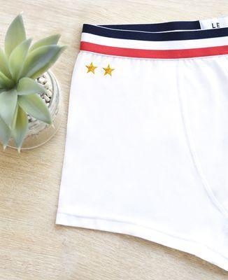 Boxer Deux étoiles (brodé)