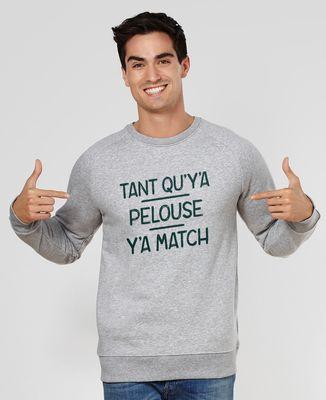 Sweatshirt homme Tant qu'y'a pelouse, y'a match