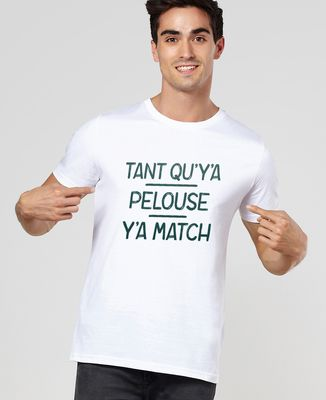T-Shirt homme Tant qu'y'a pelouse, y'a match