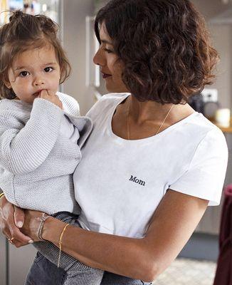 T-Shirt femme Mom (brodé)