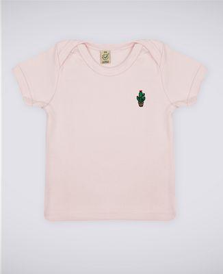 T-Shirt bébé Cactus pot (brodé)