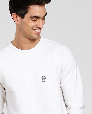 Sweatshirt homme Cafetière (brodé)