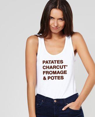 Débardeur femme Patates, charcut', fromage et potes